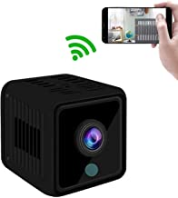 GXSLKWL WiFi Mini Spy Camera HD 1080P Wireless for Home Security Surveillance Baby with Night Vision and Loop Recording (C...