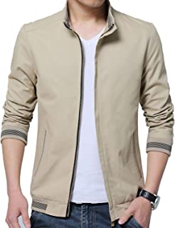 131f30358821 LIJYYJ Men Business Casual Cotton Jacket Coats Men Washed Soft 100% Cotton  Fashion Solid Jackets