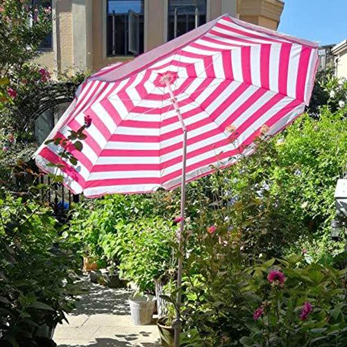 LNX Parasol Parasol de Jardin Rond, avec Fonction d'inclinaison, Hauteur Ajustable, Parasols extérieurs pour Pique niques Plage Terrasse Camping, Parapluie de Marché