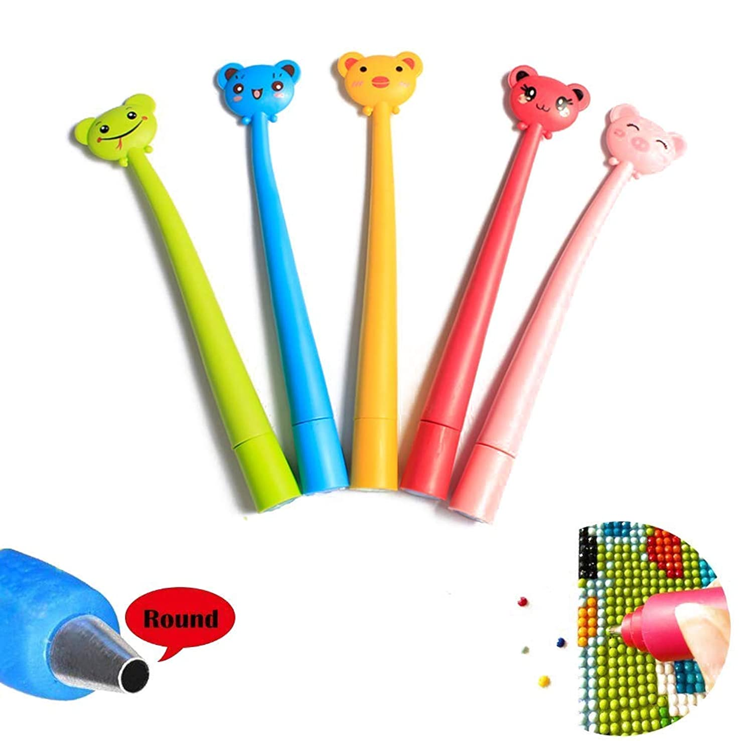 1 pc Diamond Painting Tool Point Drill Pen for Round Drill (Random Color)