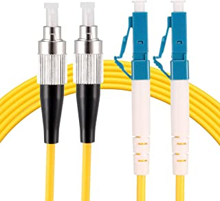 sourcing map Fiber Cable,1.5 Meters 5Ft SC//UPC Duplex 9//125 Single-mode 12 Core Fiber Optic Cable Jumper Optical Patch Cord