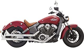 Bassani Xhaust 18-19 Indian SCOUTBOB Fishtail Slip-On Exhaust with Baffles (2.25