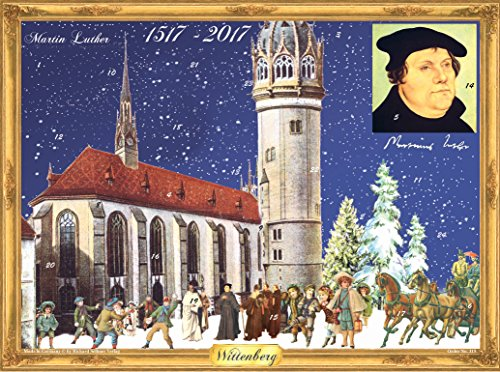 Richard Sellmer Verlag Adventskalender Martin Luther - Papier-Adventskalender Wittenberg, A3