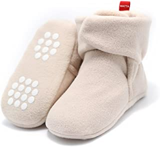 Baby Hi-Top Warm Up Fleece Lined First Pram Shoes Baby Booties