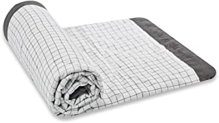 Zenssia Ultra Soft Microfirber Quilt - Breathable Light Weight Warm and Breathable Baby Crib Blanket Comforter for Kids Toddler Boy or Girl 43 x 51 inches Large - Checks Black & White