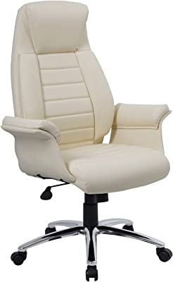 SONGMICS Office Chairs, Polyurethane Black, Back 76 cm, Size: 54 x