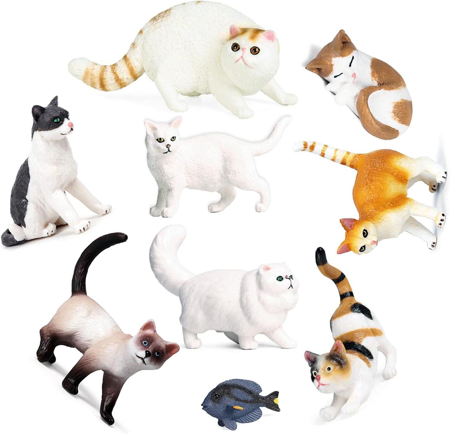 Cat Animal Over item handling Figures Spring new work OrgMemory 9pcs Toys Fi Animals