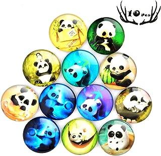 10 Pack Fridge Magnets,Cartoon Panda Pattern Fridge Magnets Office Magnets, Calendar Magnet, Whiteboard Magnets, Perfect Decorative Magnet Set Best Housewarming Home Decorations Gift