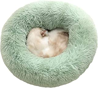 XIAJIE Pet Bed, Fluffy Luxe Soft Plush Round Cat and Dog Bed, Donut Cat and Dog Cushion Bed, Self-Warming and Improved Sle...