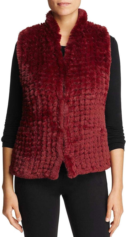 Bagatelle Womens Faux Fur Dressy Vest