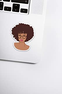 Afro Stickers for Scrapbooks, Laptops, Bullet Journals, and Planners