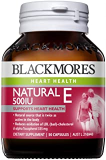 Blackmores Natural E 500IU (50 Capsules)