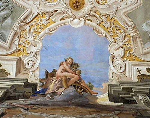 Kunst für Alle Impresión artística/Póster: Giovanni Battista Tiepolo G B Tiepolo Time abducts Beauty - Impresión, Foto, póster artístico, 90x70 cm