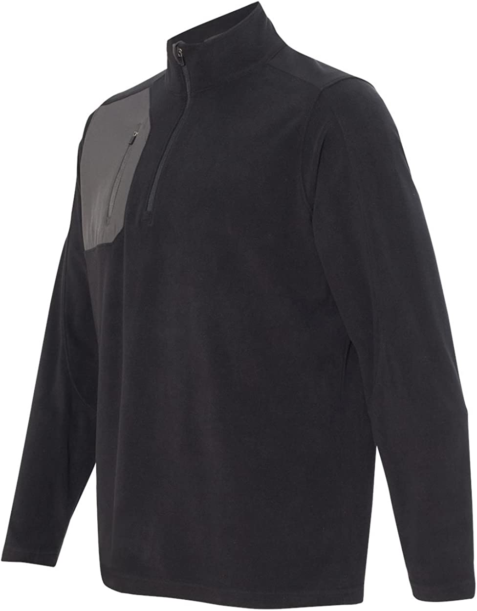 DRI Duck Men's 7345 Interval DDX Quarter-Zip Nano Fleece Nylon Pullover Jacket (4X-Large, Black/Charcoal)