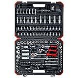 Gedore Red R45603172 Maleta con 172 herramientas, 0 W, 0 V, Negro/Rojo, 1/4', 3/8',...