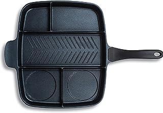 Master Pan Non-Stick Divided Multi Use Pan, Black