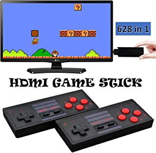 Texas Deluxe Wireless Controlled 4K 1080p HDMI Retro Classic Video Game Console 628 in 1 Built-in Plug and Play Video Games with 2 Wireless Controllers Handheld Games for Kids & Adults