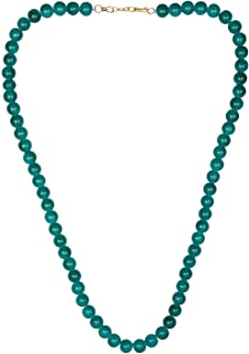 Efulgenz Handcrafted Crystal Glass Classic Round Beaded Strand Green Necklace Fashion Accessories for Women Girls