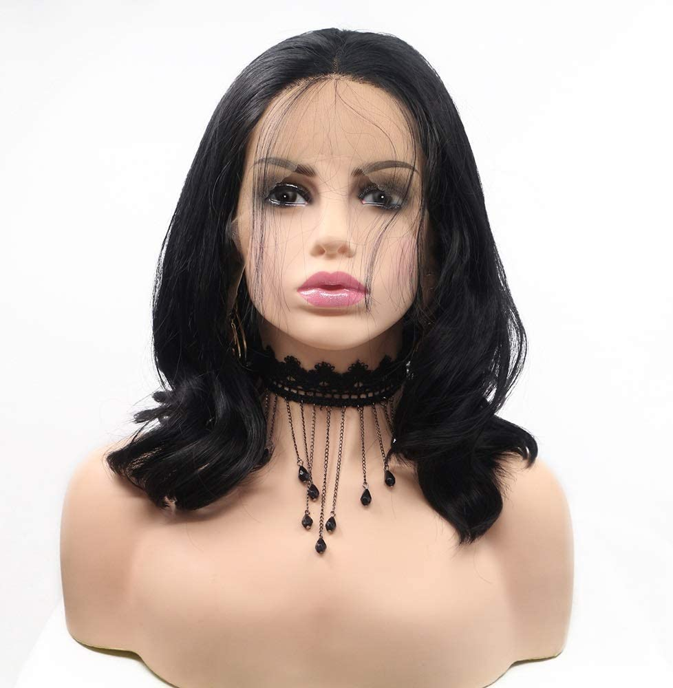 Wigs Black Daily bargain sale Wig Ladies Soldering Handmade Lace and in The Set European