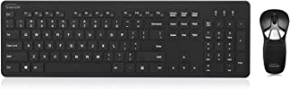 Gyration Air Mouse GO Plus with Full Size Keyboard - USB Wireless RF 104 Key - USB Wireless RF Laser - Symmetrical - Compatible with Desktop Computer (Windows, Mac OS) - TAA Compliant (GYM1100FK)