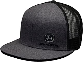 a8eb261e3598e John Deere Brand Charcoal High Profile w Suiting Fabric Snapback Hat -  13080463CH