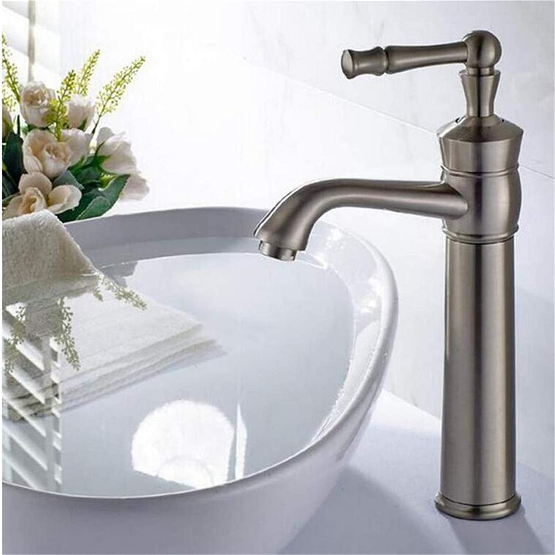 Faucet Modern Plated Mixer Faucet Faucet Mixer Nickel Brushed Single Handle Basin Faucets Hot and Cold Water Mixer Tap Bathrom Washbasin Faucet