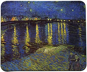 Vincent Van Gogh Impressionist Art Mouse Pad  Starry Night Over The Rhone