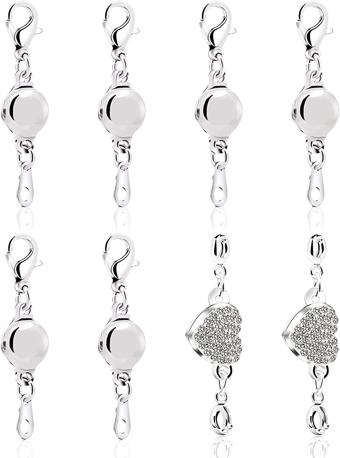 8 pcs Sacramento Mall All items free shipping Magnetic Necklace Clasps Closures and for