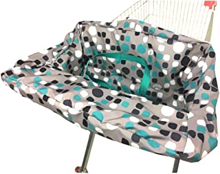 Portable Shopping Cart Cover | High Chair and Grocery Cart Covers for Babies, Kids, Infants & Toddlers ✮ Includes Free Carry Bag ✮ (Simple Blue Dot)