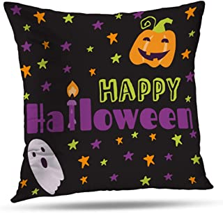 Coeny Autumn-Bones Decorative Pillow Covers 18x18 Inch Cushion Cover, Halloween Banners Cotton and Ployster Blend Pillow Cases for Sofa Bed Home Car,Halloween Banners