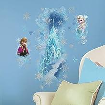 Roommates  RMK2739GM Frozen Ice Place Elsa & Anna, Multi-Colour, Vinyl