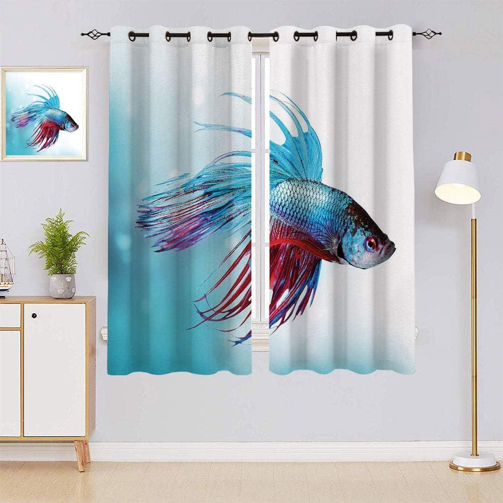 Aquarium Digital Print Curtain Siamese Swim Wholesale Fish Limited price sale Fighting Betta