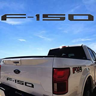 Sparkle-um Ford F-150 Tailgate Plastic Letters Inserts Emblem,Decal Badge Nameplate Fits for 2004-2019 Ford F150.(Black)