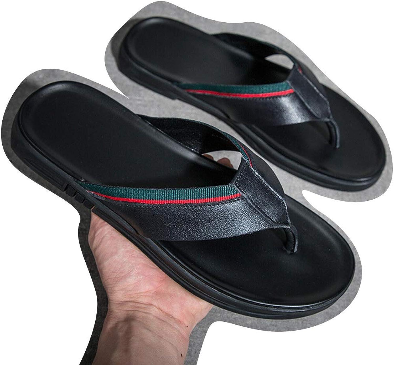 BAACHANG Pantofola da Uomo in Pelle con Strato Superiore di Slipper da Indossare Infradito da Uomo