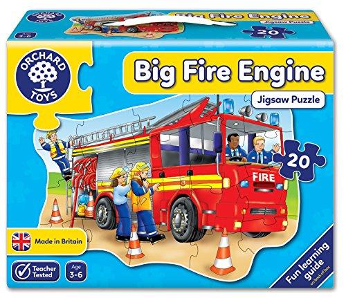 Orchard_Toys 258 Big fire engine - Puzle con dibujo de camión de bomberos (20...