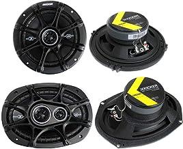 """2) Kicker 41DSC654 6.5"""" 240W 2-Way + 2) 41DSC6934 6×9"""" 360W 3-Way Car Speakers"""