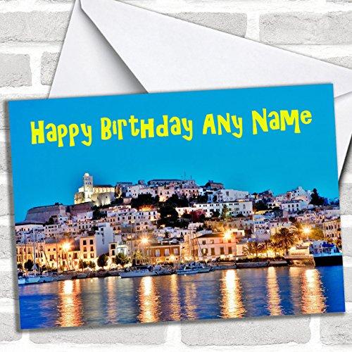 Ibiza Aangepaste Verjaardag Groeten Kaart- Verjaardagskaarten/Landen & Plaatsen Kaarten