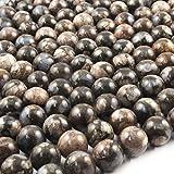 Beads Ok, Abalorios Cuentas Piedra Semipreciosa Rhiocite Brasileño Naturales Esferas Bola Redonda 10mm ~38cm un Tira, Vendido por Tira. 10mm Round Natural Brazilian Rhiocite Gemstone Beads