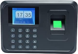 Aibecy Huellas Biométrico de Asistencia Máquina /Registrador de Cheques del Empleado / 2.4 Pulgadas TFT DC 5V,Negro