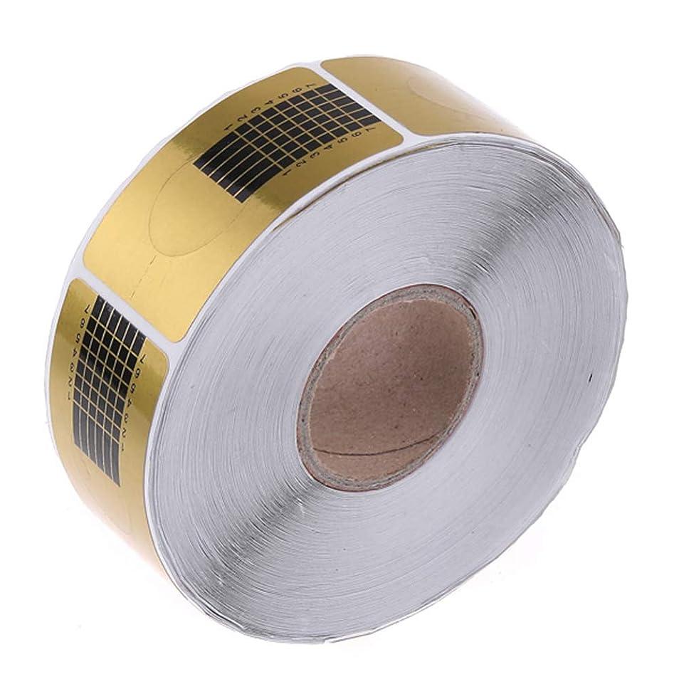 乱気流備品分数Onior ネイル フォーム ネイル アート フォーム セット プロ用 使い捨て 紙製 1巻500枚 イエロー