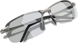 WHCREAT - Gafas De Sol Polarizadas Redondas Retro Unisexo Moda Estilo Vintage Ultraligero HD Lente AL-MG Marco para Hombre y Mujer