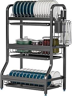 Égouttoir à 3 Niveaux, égouttoir en Acier Inoxydable avec Plateau d'égouttement, Support de séchage de Vaisselle de Cuisin...