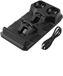 Oplaadstation, tweekleurige led-lichtindicator 4-in-1 bekabeld USB-oplaadstation en georganiseerd bureaublad voor PS4-cont...