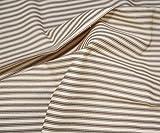 1m   Qualität braun gestreift mit kurzen Woven Canvas