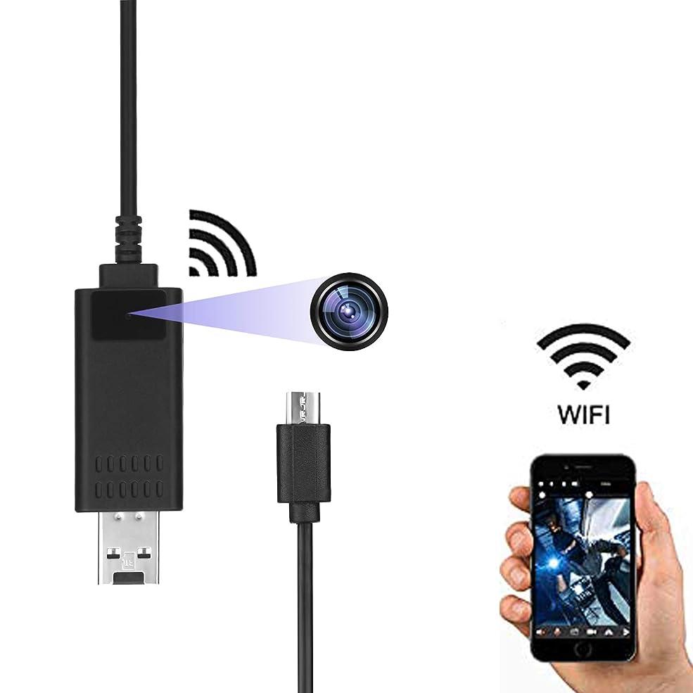 異形プラグ持続的WiFi隠しカメラ 1080P高画質超小型カメラ USBデータラインスパイカメラ 監視録画 動体検知 自動循環撮像 防犯カメラ 盗撮 日本語取扱IOSとAndroid対応