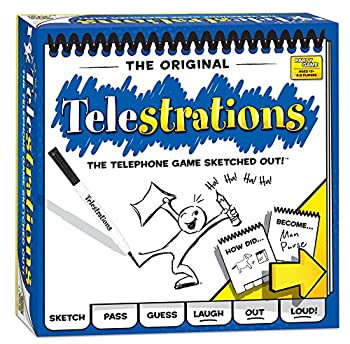 USAOPOLY Telestrations Original 8 Player Family Board Game A Fun Family Game for Kids and Adults Family Game Night Just Got Better The Telephone Game Sketched Out Multicolor