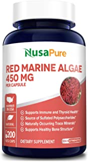 Red Marine Algae 450mg 200 Vegetarian Capsules (Non-GMO & Gluten Free) Supports Joint, Cardiovascular, & Digestive Health,...