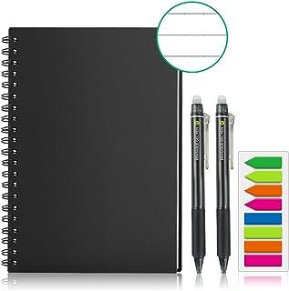 GUYUCOM Smart Reusable Notebook, Letter Size Erasable Wirebound Smart Notebook with Pen Sketch Pads APP Storage (A4)