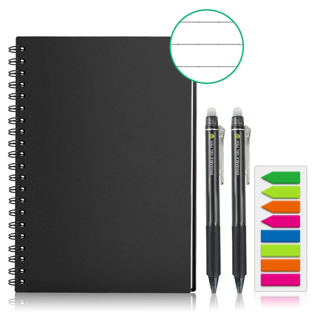 Guyucom Carnet de notes intelligent, réutilisable, format lettre, effaçable, avec bloc-notes de croquis avec stylos, stockage d'applications (A4)