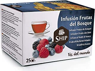 Ship - Té Frutas del Bosque en Caja de 25 Unidades - Propiedades Antioxidantes - Ayuda a Activar la Mente - Aporta Vitamin...
